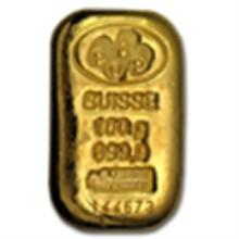 100 gram Pamp Suisse Gold Bar .9999 Fine - W/Assay (Cas