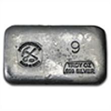 9 oz Prospector's Gold & Gems Silver Bar .999 Fine