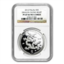 2012 Palau $5 Silver Year of the Dragon Proof NGC PF-69