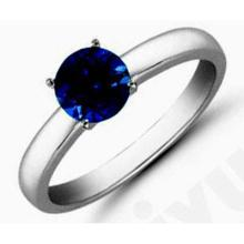 Sapphire1.60 ctw Solitaire Ring 14kt W/Y Gold