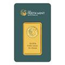 Gold Bars: Perth Mint 50 Gram Gold Bar