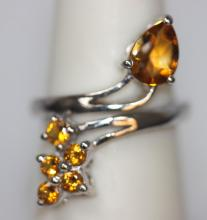 1.44 CTW CITRINE .925 STERLING SILVER RING