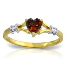14K. SOLID GOLD RINGS WITH NATURAL DIAMONDS & GARNET