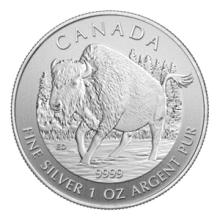 Canadian Silver 1 oz Wood Bison