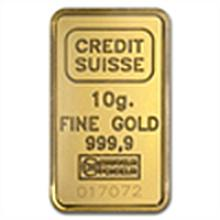 10 gram Statue of Liberty Credit Suisse Gold Bar .9999