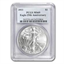 2011 Silver American Eagle - MS-69 PCGS - 25th Annivers