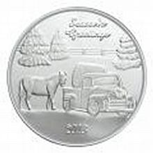 Christmas Silver 2013 Seasons Greetings Farm 1oz .999 X