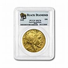 2008 1 oz Gold Buffalo MS-70 PCGS (Black Diamond)