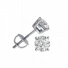 1.50 ctw Round cut Diamond Stud Earrings G-H, VVS