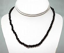 98.70 CTW Garnet round beads Necklace
