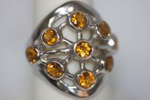 2.01 CTW CITRINE .925 STERLING SILVER RING