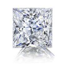 EGL CERT 0.59 CTW Princess DIAMOND E/SI2