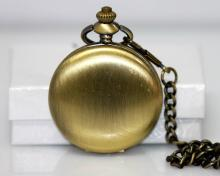 AMERICAN GOLD ANTIQUIE FINISH POCKET WATCH