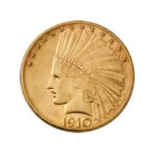 Early Gold Bullion $10 Indian Extra Fine