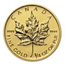 1/4 oz Gold Canadian Maple Leaf 2014