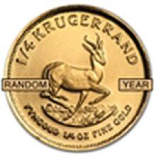 1/4 oz Gold South African Krugerrand - Random Year