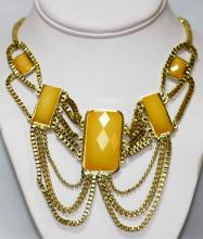YELLOW BRASS NECKLACE