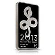 Silver Bars: 2013 Silver Snake 10 oz Bar .999 fine