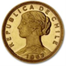 Chile 100 Pesos Gold Coins Random Dates (BU)