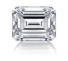 EGL CERT 0.9 CTW Emerald DIAMOND I/VVS2
