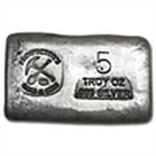 5 oz Prospector's Gold & Gems Silver Bar .999 Fine
