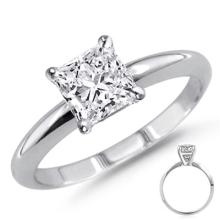 0.75 ct Princess cut Diamond Solitaire Ring, G-H, SI-2