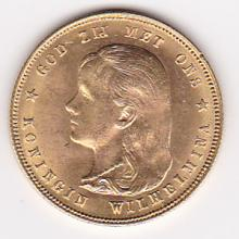 Netherlands 10 gulden gold 1897, BU