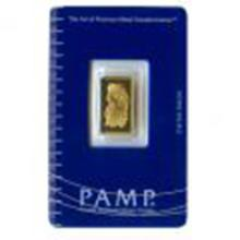 Gold Bars: Pamp Suisse 2.5 Gram Gold Bar