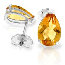 14K. SOLID GOLD STUD EARRING WITH NATURAL CITRINES
