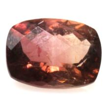 Natural 1.92ctw Bi-Color Tourmaline Cushion Stone
