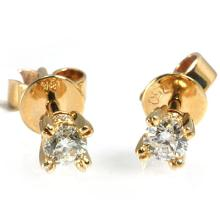 Genuine 0.42 ctw Diamond Stud Earring 18kt Gold-Yellow