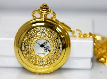 GOLD VINTAGE STYLE W/ FILIGREE DESIGN POCKET WATCH