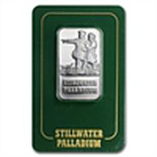 1 oz Johnson Matthey Palladium Lewis & Clark Bars (Proo