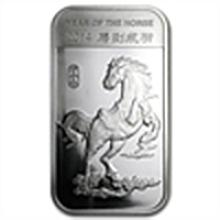 1 oz Year of the Horse Silver Bar .999 Fine