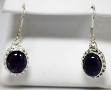 7.50 CTW Modern Style Amethyst Earrings .925 Sterling S