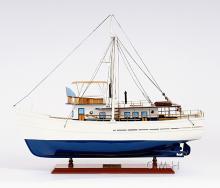 HAND MADE WOODEN Dickie Walker ship W/COA