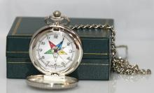 MEDIEVAL STYLE MASONIC LADIES EAST STAR POCKET WATCH