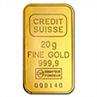 20 gram Statue of Liberty Credit Suisse Gold Bar .9999