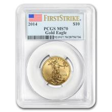 2014 1/4 oz Gold Eagle MS-70 PCGS First Strike
