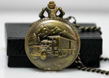 Collectors Edition Antique Style Brass SemiTruck Quartz