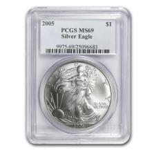 2005 Silver American Eagle - MS-69 PCGS