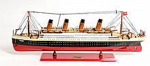 HAND MADE WOODEN Titanic Painted Medium W/COA