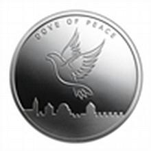 1 oz Dove of Peace Silver Round .999 Fine