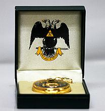 Collectors Edition Latin Masonic Eagles 32 Pocket Watch