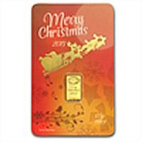 2013 1/2 gram Merry Christmas Gold Bar (In Assay)