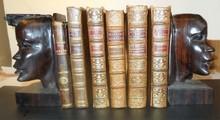 6 - 18th Century Full Leather Books