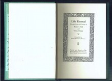 Life Eternal Excerpts From The Writings Of Baha U Llah And Abdu'l-Baha-Roycroft-signed