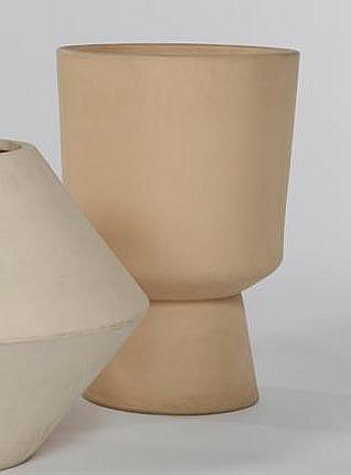 Malcolm Leland Bisque glazed footed planter (L-20)