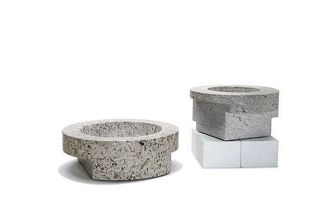 Enzo Mari pair of Stoneware bowls