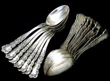 (15)Sterling patent 1900 spoon's 389.59g